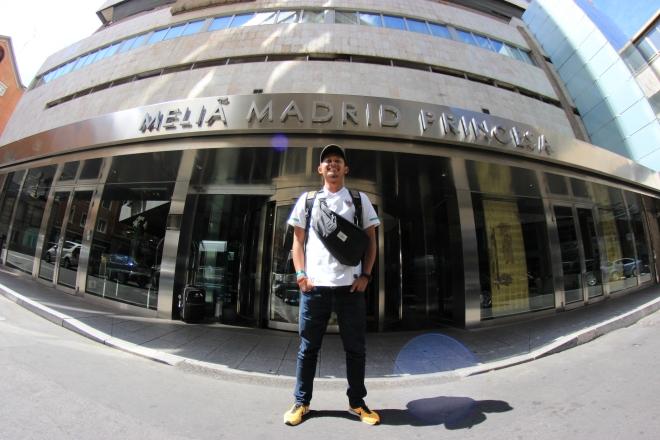 In front of Melia Madrid Princesa Hotel
